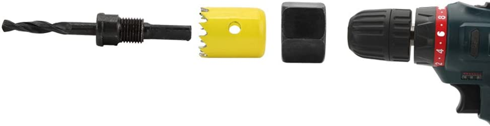 """Press Board und Kunststoffplatte Bohren Holz Loch/öffner Set Inbusschl/üssel und installieren Platte f/ür Holz geh/ärtetem Kohlenstoffstahl Gipskarton 2 1//2/"""" Lochs/äge Kit SENZEAL 8 pcs 3//4/"""""""