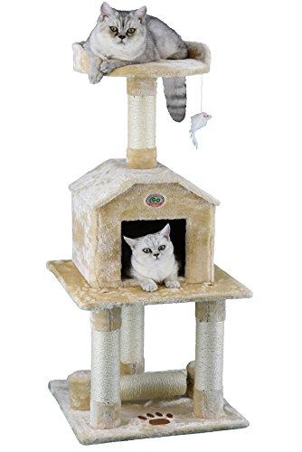 Go Pet Club 45″ Tall Beige Cat Scratcher Cottage