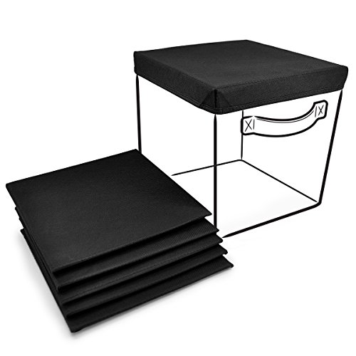 Sorbus® Foldable Storage Cube Basket Bin Covers 6 Pack Black