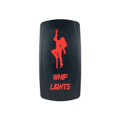 Laser Backlit Red Rocker Switch Girl Whip Lights 20A 12V On/Off LED Light STV Motorsports: Automotive