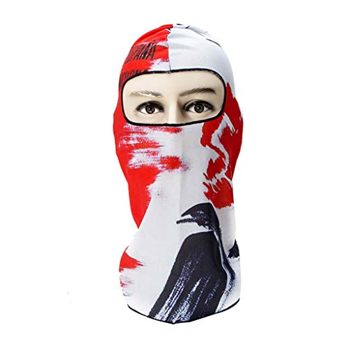 Mouth Mask,3D Printed Outdoor Party Cycling Ski Hat Balaclava Motorcycle Full Face Mask,Running,Visors,