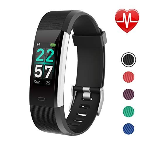LETSCOM Fitness Tracker Color Screen, Activity Tracker with Heart Rate Monitor, Sleep Monitor, Step Counter, Calorie Counter, IP68 Waterproof Smart Pedometer Watch for Men Women Kids (Best Wearable Calorie Counter)