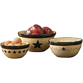 Amazon Com Park Designs Star Vine Mixing Bowls Set Of 3
