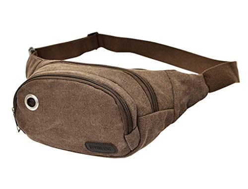 Hiking For Outdoors Climbing Casual Cross Canvas Coffee Sport Bags Pack Unisex Bigood body Waist PA6qBvqZ
