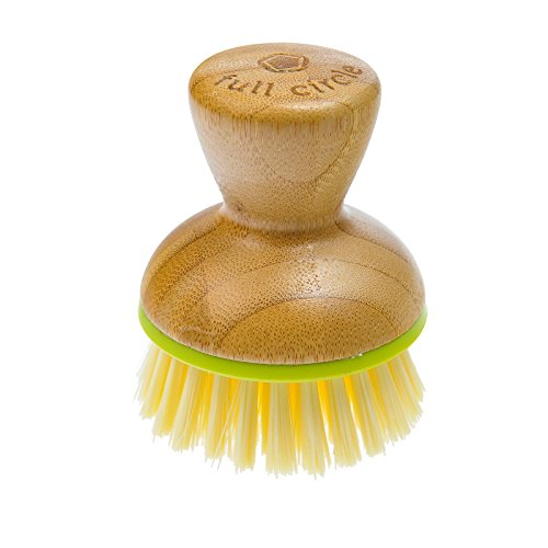 Bamboo Picture Palm (Full Circle Bubble Up Bamboo Dish Brush, Green/White)