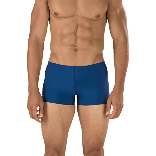 Speedo Men's Solid Square Leg Endurance+ Long-Lasting No-Pinch Swimsuit