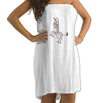 Run The Zebra Prints Bath Towel Wrap Womens Spa Shower and Wrap Towels Swimming Shawl Bathrobe Cover Up for Ladies Girls - White