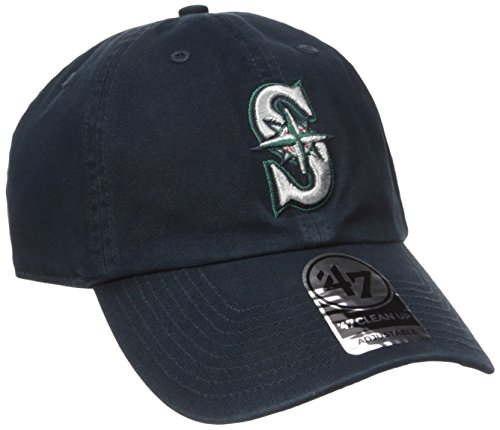 '47 Seattle Mariners Clean Up Adjustable Cap (Navy, One-Size) (For Adults)