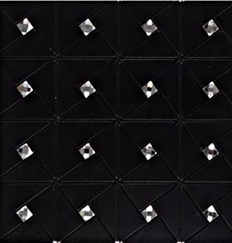Schwarze Aluminium Kunststoff Spiegel Glas Mosaik Wandfliesen, 30x30cm  Selbstklebende Metall Mosaik Fliesen Aufkleber,