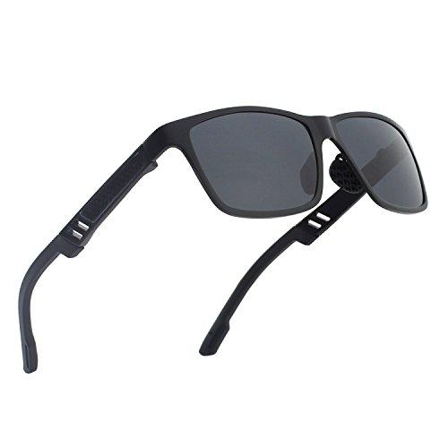 CGID GD60 Classic Al-Mg Alloy Wayfarer Style Polarized Sunglasses - Aviation For Sunglasses Best