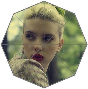 Scarlett Johansson Custom 100 Polyester Foldable Umbrella Amazon Co Uk Clothing