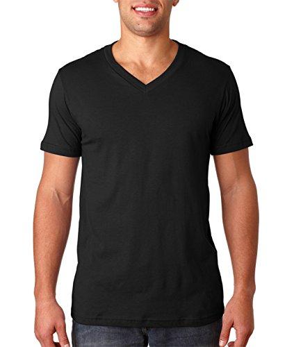 Bella + Canvas Unisex Jersey Short-Sleeve V-Neck T-Shirt, Medium, BLACK