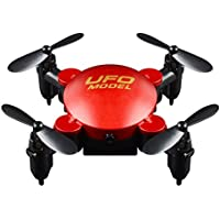 Fineser Mini Foldable RC Drone with 0.3MP Wifi Camera 2.4GHz 4CH 6-Axis Gyro Quadcopter with Altitude Hold and One-Key Function (Red)