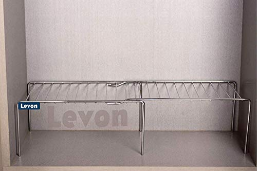 Levon Stainless Steel Kitchen Dish Rack | Expandable Storage Shelves for Kitchen Cabinets | Multipurpose Organizer Extend Up to 580 mm | with Anti-Rust Nano Coating Price & Reviews