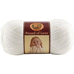 Lion Brand Yarn 550-100 Pound of Love Yarn, White