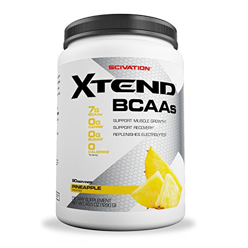 Scivation Xtend BCAA Powder, Branched Chain Amino Acids, BCAAs, Pineapple, 90 Servings