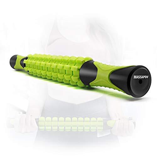 MASSAPOW Muscle Roller Massage Stick: Body Massage Sticks Tail Massage Stick -...