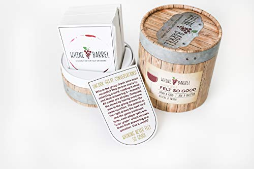 Whine Barrel :: Conversation Starters For Great Fun With Family and Friends - Perfect For Wine Lovers - Ultimate Get To Know You Card Game (Conversation Starters For Dates With A Guy)