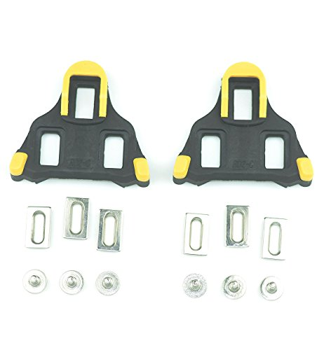 Spd Sl Cleat Set - Fantasy Life Bike Cleats for Shimano SH11 SPD-SL Shoes Indoor Cycling or Road Bike Bicycle-Yellow