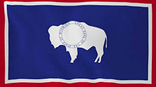 Set of State of Wyoming & USA 3'x5' Polyester Flags