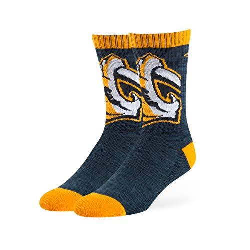 OTS NHL Nashville Predators Male Ice Box Sport Socks, Navy, Large ()