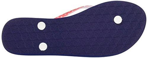 Roxy Portofino - Sandalias de dedo Mujer Azul (White /         Pink /         Blue)