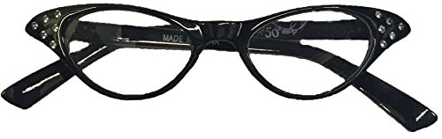 [Hip Hop 50s Shop Kids Cateye Glasses] (50s Costumes Women)