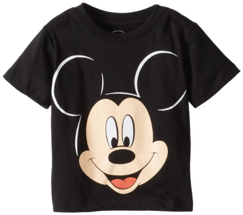 Mouse T-shirt - Disney Mickey Mouse Little Boys' Face Toddler T-Shirt, Black, 2T