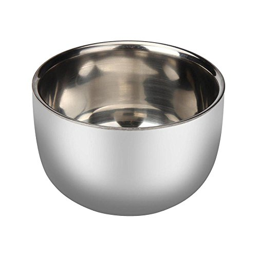FTXJ Men's Face Care Shaving Stainless Steel Mug Bowl (7.3cm)
