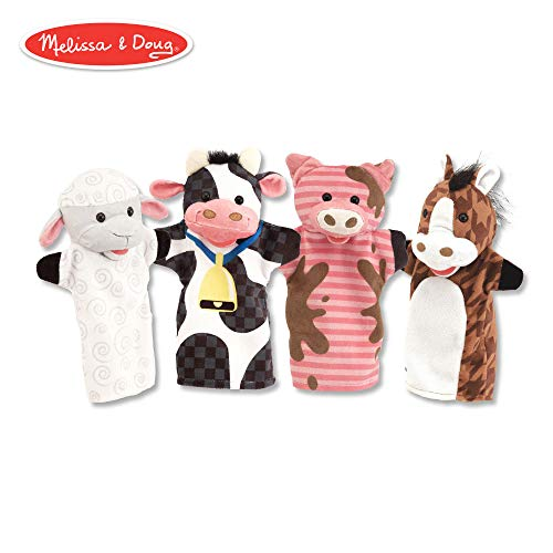 Melissa & Doug Farm Friends Hand Puppets ()