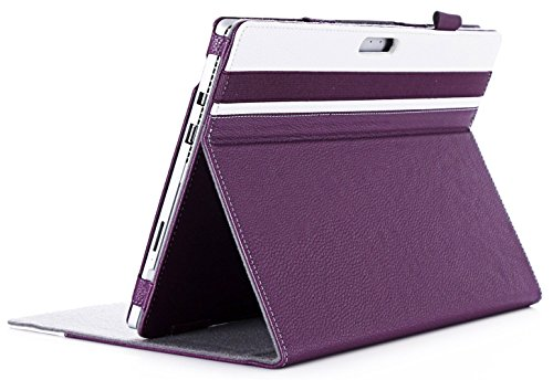 ProCase Surface Pro 6/Surface Pro Case 2017/Surface Pro 4 Case - Premium Folio Cover Case for Microsoft Surface Pro 6 / Surface Pro 2017/Pro 4, Compatible with Type Cover Keyboard -Purple