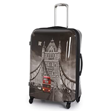 IT Luggage 77cm London Tower Bridge and Red Bus Ultra Strong ...
