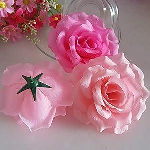 10PCS/Lot 10CM Golden Artificial Roses Silk Flower Heads DIY Wedding Home Decoration Festive Accessories Party Supplies 20colors,Green,Diameter 10cm 3