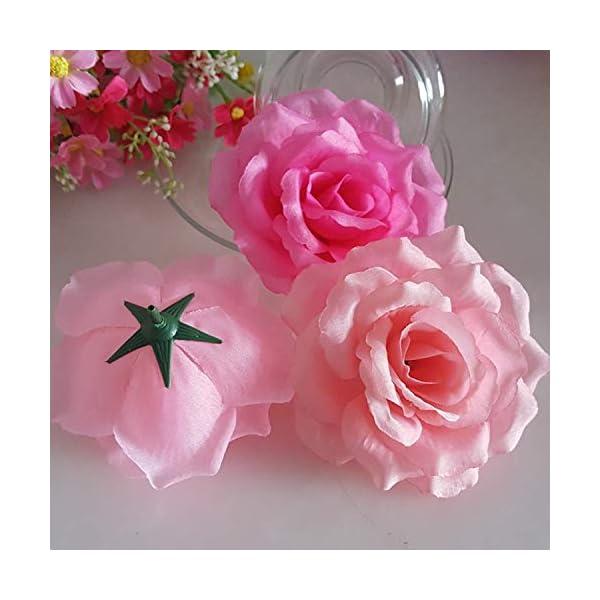 10PCSLot-10CM-Golden-Artificial-Roses-Silk-Flower-Heads-DIY-Wedding-Home-Decoration-Festive-Accessories-Party-Supplies-20colorsGreenDiameter-10cm