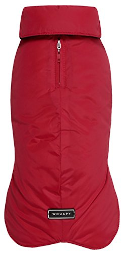 Wouapy 90070 Raincoat for Dogs, Eco Red, Large (90070 Velcro)