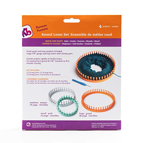 Authentic Knitting Board KB8150 'Premium' Chunky Round Knitting Loom Set by Authentic Knitting Board (Image #1)