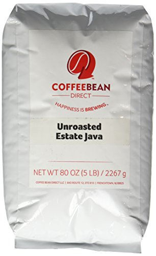 Green Unroasted Estate Java, Whole Bean Coffee, 5-Pound Bag