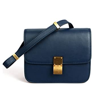 "f90758e01b735 Genuine Leather Designer Inspired Bag ""Céline Classic Box Bag""  Luxury Fashion Crossbody Clutch"