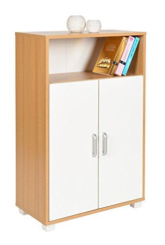 ts ideen schrank kommode sideboard k chenbuffet standregal mdf wei holzoptik 94 x 60 cm. Black Bedroom Furniture Sets. Home Design Ideas