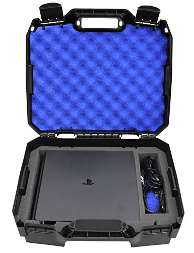 CASEMATIX Bag Case Fits Playstation 4 Slim 1TB Console and Accessories - Fits PS4 Slim Console , Controller , Wireless Move Motion , Games , Cables Only - Will Not Fit Other Models