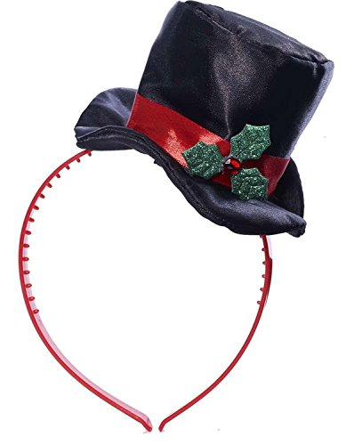 [Mistletoe Mini Top Hat] (Snowman Costume Hat)