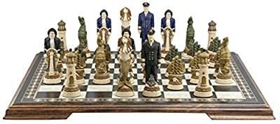 Nautical Chess Set - Handmade and Hand Painted - 5.25 Inches