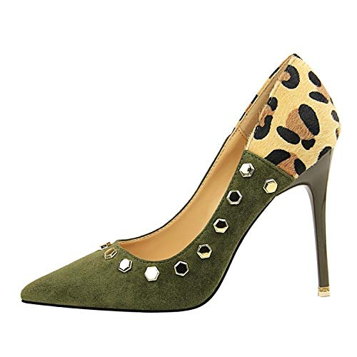 Shoes ZHZNVX Suede Green Heels Green Fall Pump Basic Heel Stiletto Women's Khaki Red CCrqxF5