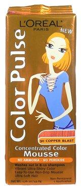 Color Pulse Par Loreal, concentré non-permanent Couleur des cheveux Mousse, # 90 Cuivre Blast, 1 Ea