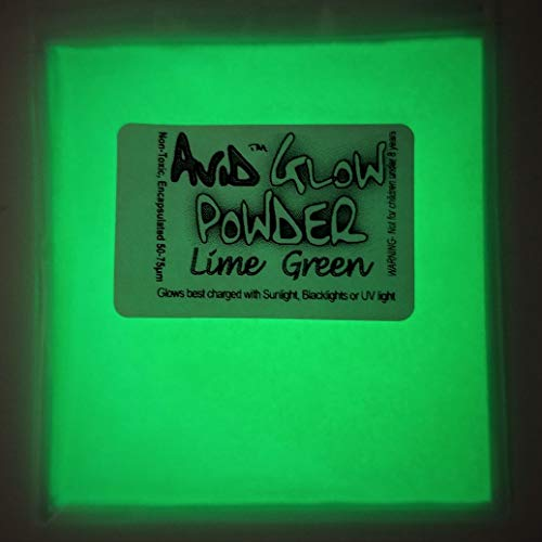 - Glow Powder; Fluorescent Green in Daylight and Green Glow in Dark.53oz (15g); Glow in The Dark Pigment Powder for Resin, Slime, Nail Polish, Paints, Coatings, Acrylic Powder