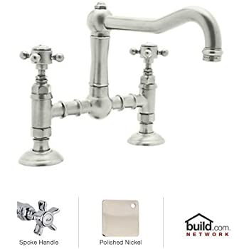 Rohl A1459XPN-2 Country Kitchen Deck Mounted Bridge Faucet
