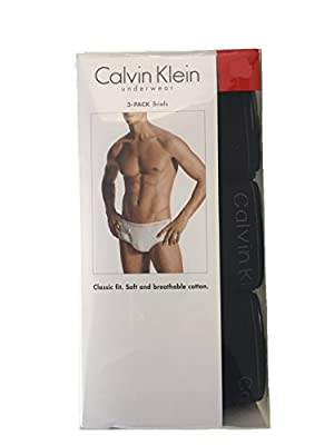 Calvin Klein 3 Pack Men's Cotton Classic Briefs