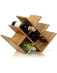w shape 8 bottle tabletop wooden wine rack improved oct