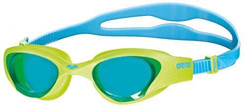ARENA The One Junior - Gafas de natación para niños, El único niño, Unisex niños, color Azul claro/Lima/Azul, tamaño talla única