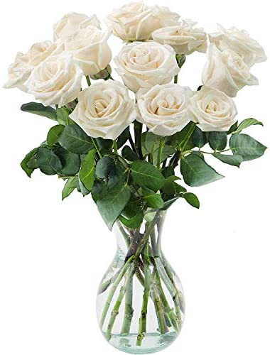 Delivery by Monday, May 10th Dozen White Roses by Arabella Bouquets